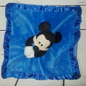 Disney Baby Blue Mickey Mouse Security Blanket Rat